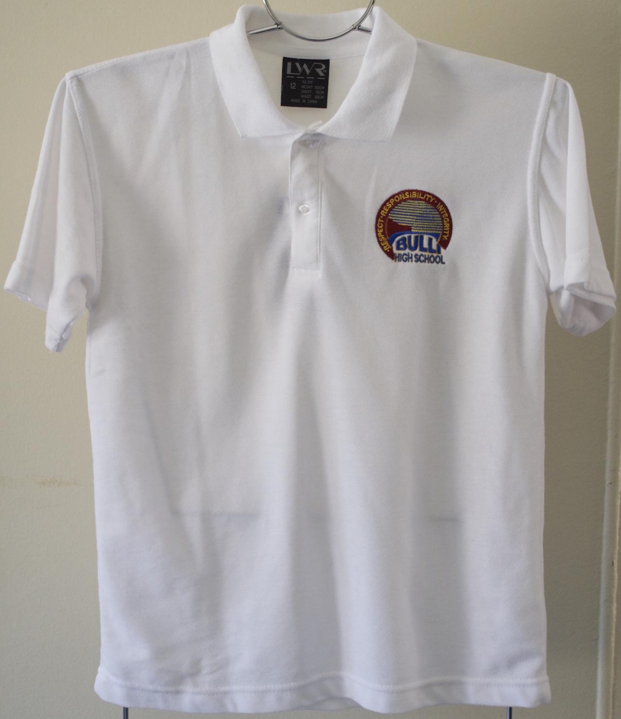 Senior white polo shirt (unisex)